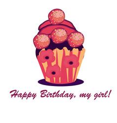 Cupcake designmenu cover web icon vector