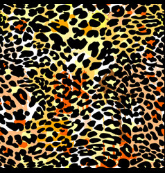 Fashion leopard exotic seamless pattern vector