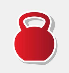 Fitness dumbbell sign new year reddish vector