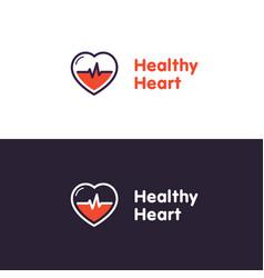 heart logo design template healthy heart vector image
