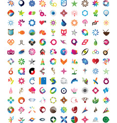 Huge collection of trendy icons vector image