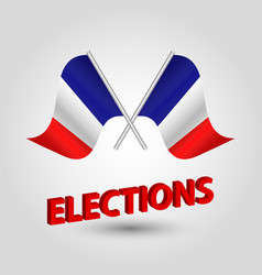 Icon of france and red 3d title elections vector