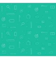 Icons analytics background set of sketch vector image vector image