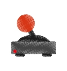 Isolated videogame joystick design vector