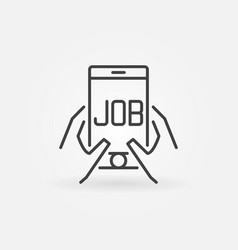 job in smartphone icon vector image