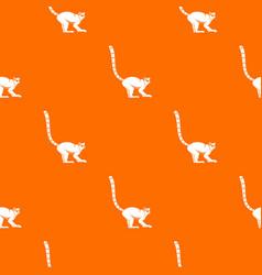 lemur monkey pattern seamless vector image