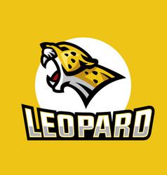 Leopard head logo vector