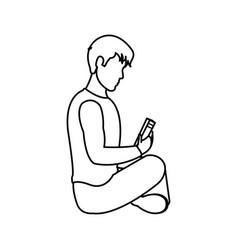 man reading design vector image