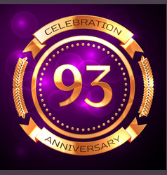 Ninety three years anniversary celebration with vector
