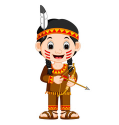 North american indian girl vector