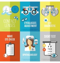 Oculist mini poster set vector image