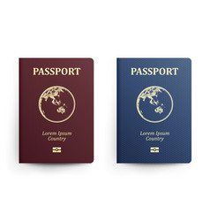 passport with map australia realistic vector image vector image
