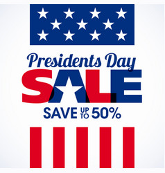 presidents day sale banner vector image vector image