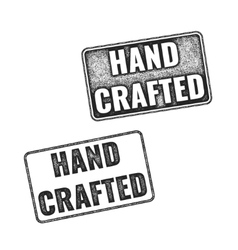 Realistic handcrafted grunge rubber stamps vector