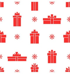 Seamless gift box pattern red gift box vector