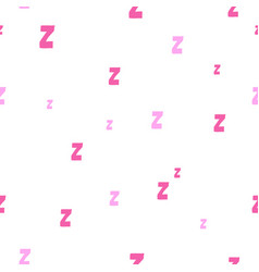 Seamless pattern with cartoon letters z vector