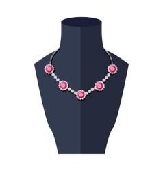 Store mannequin with necklace vector