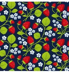 Strawberries seamless vector