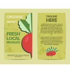 Stylish Farm Fresh flyer template or brochure vector image vector image