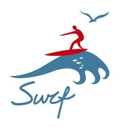 Surf emblem design vector image