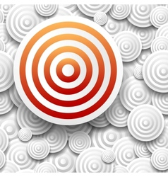 Target with drop shadow vector image vector image