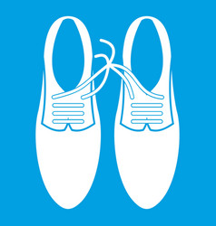 Tied laces on shoes joke icon white vector