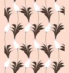 turkish tulip seamles pattern vector image vector image