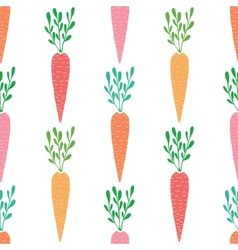 yummy carrots seamless pattern background vector image vector image