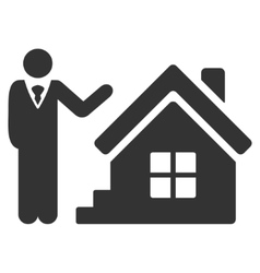 Realty agent flat icon vector