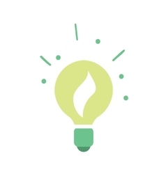 Ecological light bulb icon vector