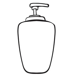 A liquid container vector