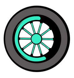 Car wheel icon icon cartoon vector