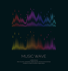 Poster of the sound wave from equalizer vector