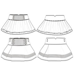 Girls skirt vector