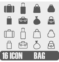 Icon Bag On white background vector image