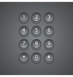 Modern phone keypad background vector