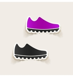 Realistic design element sneakers vector