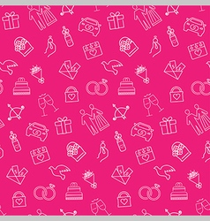 Wedding seamless pattern background vector image