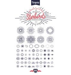 66 handmade starburst vector
