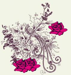 Fashion floral design vector