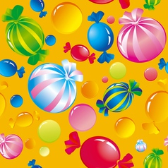 Sweets and sugar candies vector