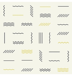 Geometric lines seamless pattern vector