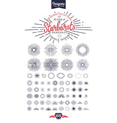 66 Handmade starburst vector image
