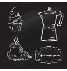coffeetime set vector image