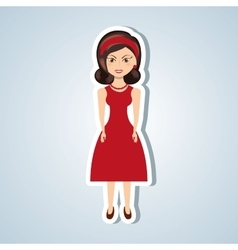 Beautiful lady design vector
