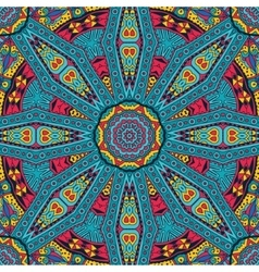 Abstract festive mandala ethnic tribal pattern vector image