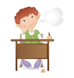 Thoughtful student vector