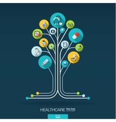 Abstract medicine background Growth tree concept vector image
