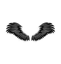 Angel wings icon simple style vector image