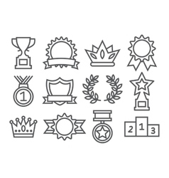 Awards line icons vector